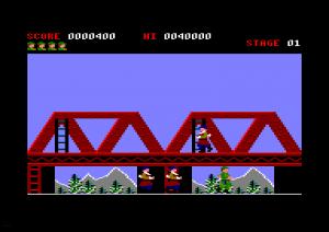 Green Beret para Amstrad CPC. Konami / Imagine.