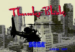 Pantalla de Thunder Blade, SEGA 1987. (Arcade)