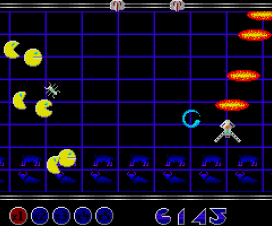 Psicodelia y coñas en Grid Runner, Atari ST, 1989.
