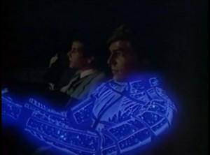 La pareja protagonista de Automan, serie de TV de los ochenta.
