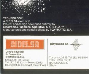 Altair fue desarrollado íntegramente por EFO para Cidelsa.