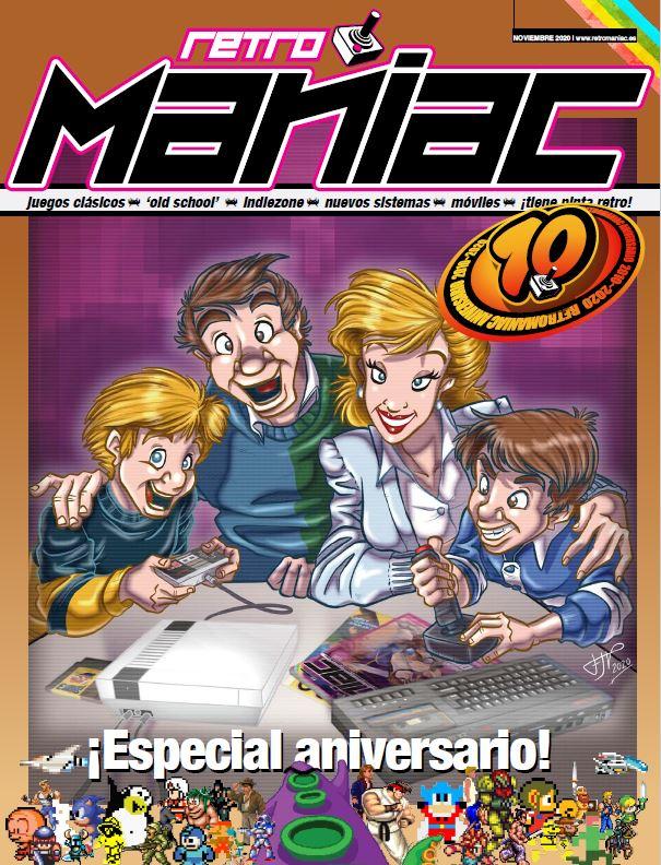 Portada 10 aniversario revista RetroManiac