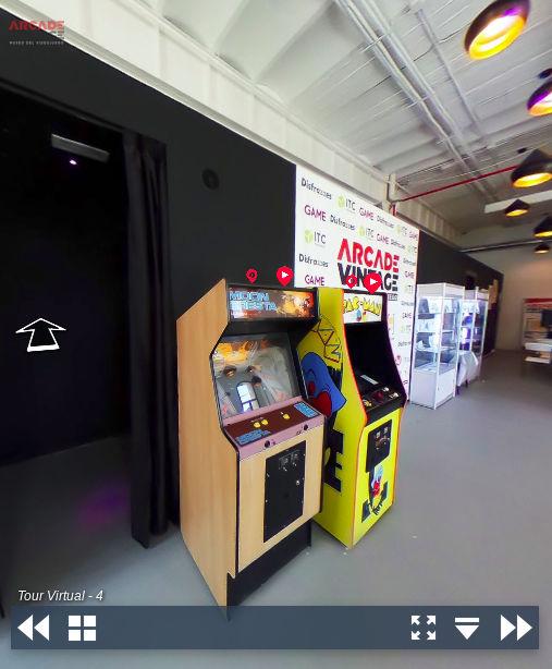 tour virtual museo del videojuego arcade vintage